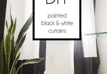 Black and White Fabric Painted Curtains – Cuckoo4Design…