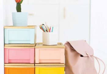DIY color block storage containers…