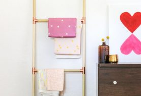 DIY Fabric Storage Ladder…