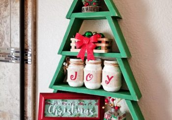How to Make an Amazing Christmas Tree Shelf for Really Cheap!