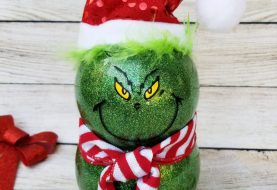 How to Make Easy Grinch Decorations with Dollar Store Supplies!