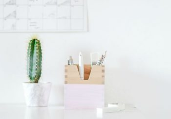 Passion Shake | Add pop of color to your stationary box with this quick Ikea hac…
