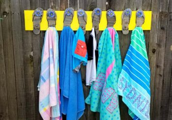 Pool Towel Rack with Flip Flops DIY Tutorial!