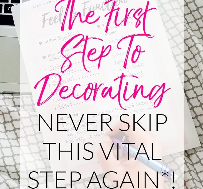 The First Step to Decorating – Do You Skip It?