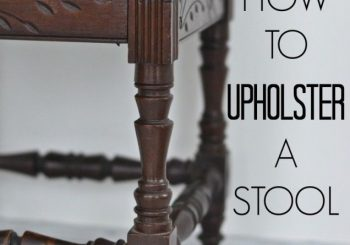 Upholstered stool title…