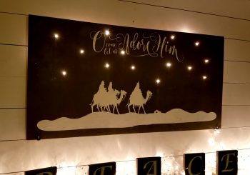 Weihnachtskrippe DIY Light Up Christmas Decor Tutorial!