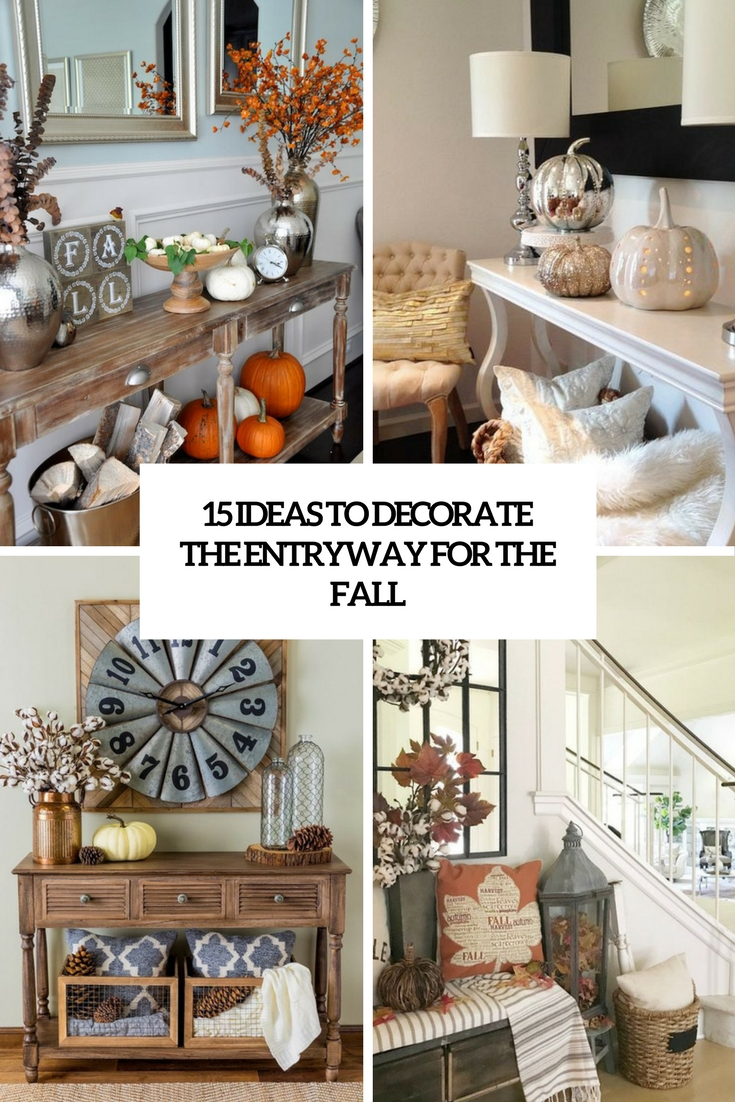 ideas to decorate your entryway for the fall cover