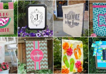 18 Adorable DIY Garden Flags for a Warm and Welcoming Home