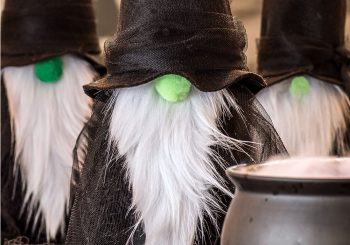 DIY Felt Gnome Witches – A Quick Halloween Craft Project