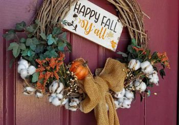 Free Fall SVG File and DIY Autumn Wreath Tutorial!