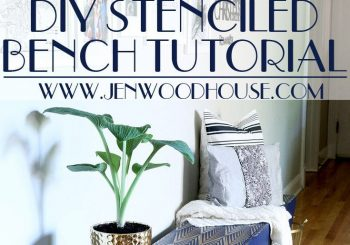 Great tutorial on how to stencil a bench – and she built the bench for $35! Gorg…