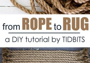 How to turn rope into a beautiful rug | a DIY tutorial by TIDBITS…