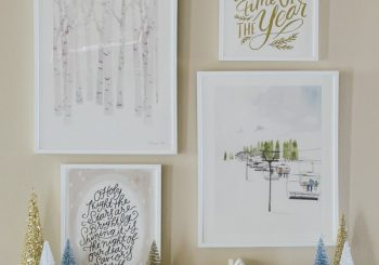 Winter Gallery Wall Ideas & Minted Giveaway (DREI $ 100 Geschenkkarten!)